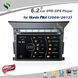 Free shipping For Honda Pilot (2009-2012) Virtual 8 DISC 6.2 inch DVD GPS Player with RADIO RDS BT MP5 CANBUS iPod TV +4Gmap(Hong Kong)