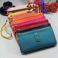 2012 women's long zipper wallet /fashion clutch /women's wallet cany color handbag