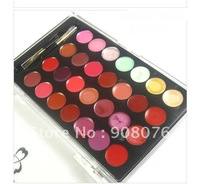 Best selling! Professional Cosmetic Makeup 32 Color Gorgeous Lipstick Lip Gloss Palette 1PCS Free shipping