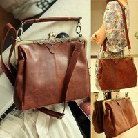 Free shipping,New woman's Korean style with Bow leather handbag/totes/shoulder bag B266