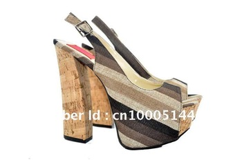 Famous Brand FRH Rainbow New Style Super Heels Platform Ladies Shoes
