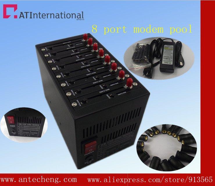 8 port modem pool Q2403 sms server sim card(China (Mainland))