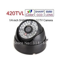 Free shipping Wired Surveillance CCTV Camera with 48 IR LEDs
