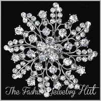 3'' New Crystal Brooch. Wholesale Rhinestone Vintage Flower Bouquet. Party Prom Pageant Wedding Bridal Jewelry. 5048