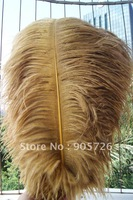 Free Shipping 100pcs/lot 14-15 inches Dyed Gold Ostrich Feather Plume for wedding centerpiece