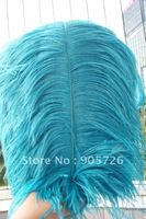 Free Shipping 100pcs/lot 14-15 inches Dyed TEAL Ostrich Feather Plume for wedding centerpiece