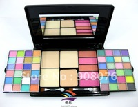Best selling! The makeup set kit 56 colors 46 eyeshadow 5 blusher 3 color pressed powder whit brusher 1pcs Free shipping