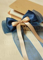 FS004-Handmade bowknot hair accessory bandeaus hair bands BLUE color hair clip
