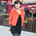 Cocoa rabbit fur coat 2012 fur short design women&#39;s ca1201