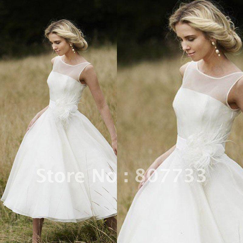 explore short beach wedding dresses