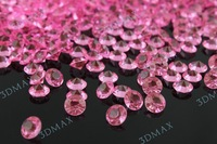 2000pcs 10mm pink color Wedding Table Scatter Diamond Crystals wedding diamond confetti