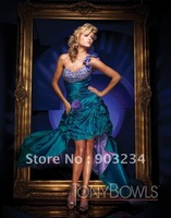 Free Shipping One-shoulder Prom Dresses Party Formal Ball Gown Wholesale/retail Customize Any Size & Color S19035