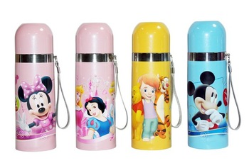 High Quality 350ml Insulation Thermos Bottle Mug Vacuum Flask kids Stainless Steel Kettle Cup bullet shape hello kitty mickey