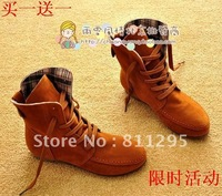 HOT Selling !!  Fashion  all-match snow boots flat heel martin boots casual boots  Free shipping