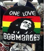 Free shipping fashion cap/hat winter warm hat men's wool knit  Bob Marley Caps one love