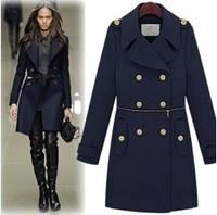 2012 UK FASHION WOMAN'S HOT SALE COATS,WOMEN FASHION WOOLEN COAT,AUTUMN WINTER JACKETS,OUTERWEAR FREE SHIPPING