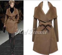 2012 classic autumn winter fashion woolen outerwear overcoat long trench wool blends jacket coat free shipping