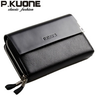 P . kuone genuine leather man bag commercial day clutch bag clutch male casual clutch bag male
