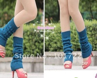 FREE SHIPMENT,Fashion lady's knitting legs warmer,winter leg covers,long size,colorful
