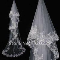 New 1T Elegant  white&ivory wedding  bride veil   LJ0002