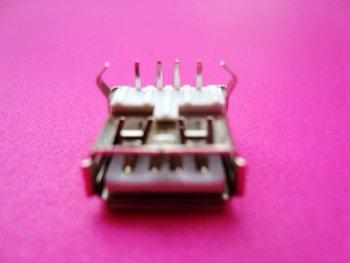 wholesale lot 12pcs 90degree angled USB A 4pin Female socket connector adapter DIY FREESHIPPING