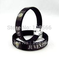 Juventus   black  wristband / fashionable football team fans wristlet     2pcs
