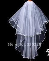 New 2T  Elegant  white&ivory wedding  bride veil+Comb    LJ0040