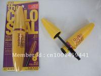 FREE SHIPPING NEW Brand Mascara Volume Express Colo SSAL Mascara, with Collagen, black, Mega Brush 10.7 ml (12pcs/lot)