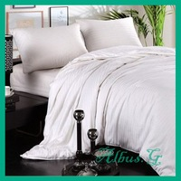 Free Shipping 100% Mulberry Silk Filled Quilt Duvet Comforter Single / Twin 2.5kg 16 Tog For Cold Winter White