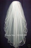 New 2T  Elegant  white&ivory wedding  bride veil +Comb  LJ0050