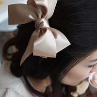 Sunshine jewelry store sweet satin  fabric bow hair accessory  f7 ( min order $10 mixed order )