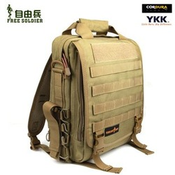 Brand:Free Soldier Outdoor tactical backpack multifunctional backpack single shoulder bag laptop bag Color:Black/ACU/Mud Color(China (Mainland))