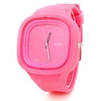 1pcs/lot Candy color watch fashion rhinestone sheet jelly table resin silica gel watches watch hot sell