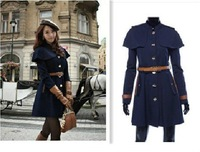2013 New Autumn/Winter European Style Fashion style Cloak Woolen women coat jackets free shipping LJ200
