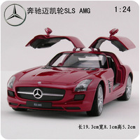 Alloy car models sls amg gullable door tailplane ragtimes model