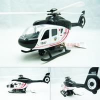 4 police helicopter black alloy model WARRIOR