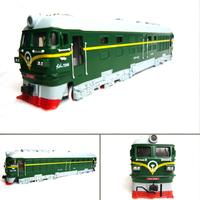 4 domestic acoustooptical nostalgic version 7246 green alloy model train toy