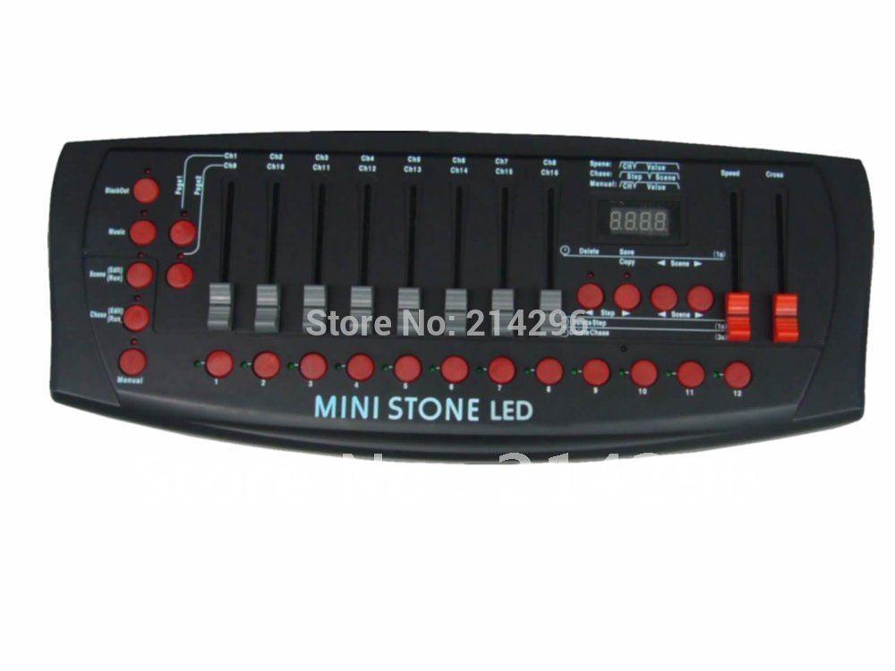 2014 Rushed Promotion Dmx Stage Light Professional Stage & Dj Dj Light Dj Controller Stone Dmx Controller 192 Channels(China (Mainland))