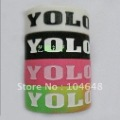 free shipping hot saleYOLO(YOU ONLY LIVE ONCE) silicone bracelet,silicon wristband,rubber bracelet,silicone band