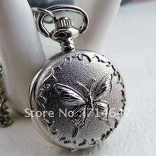 butterfly pocket watch necklace promotion