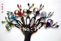 Coloured glaze pure incense oil bottle pendant necklace