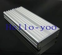 free shipping  5 pcs  Aluminum Project Box Enclousure Case - 14*43*97.5 mm(H*W*L)