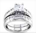 1.8 Ct Round Bridal Ring and Band Set