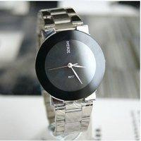 2012 New style.Wholesal 15pc/lot, Personality black waterproof quartz watch classic women's watch, Nice gift item, Free shipping