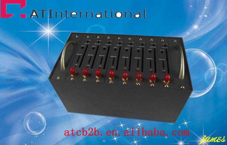 8 port modem pool sms gsm tc35i modem sms server sim card(China (Mainland))