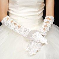 2012 Hot White &IVORY Evening  Satin  bridal glove    ST-0005