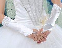 2012 Hot White &IVORY Evening  Satin  bridal glove   ST-0007