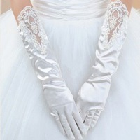 2012 Hot White &IVORY Evening LACE Satin  bridal glove  ST-0004