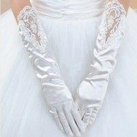 2012 Hot White &IVORY Evening LACE Satin  bridal glove  ST-0004