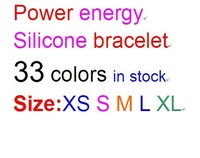 freeshipping 10pcs per lot   Silicone Bracelets Wristband Balance Bracelet  33 Colours 5 sizes